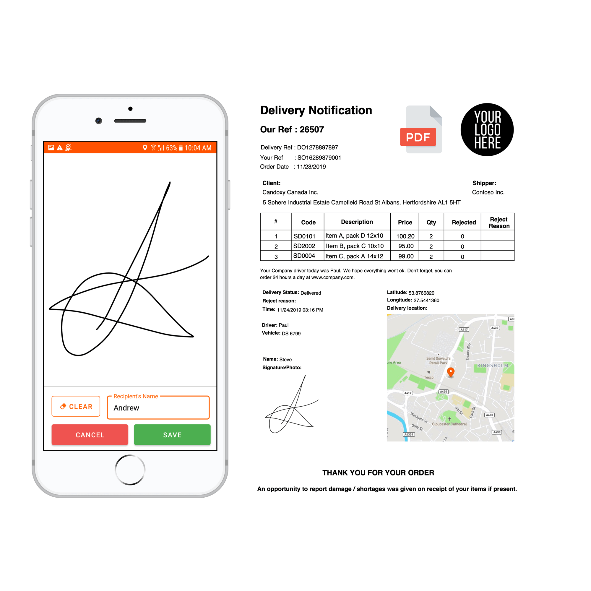 proof of delivery app