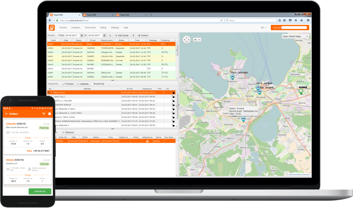Cloud-based Transport Management Software | Track-POD